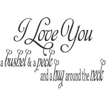 Download Amazon.com: Vinyl Wall Art Love Decal I Love You A Bushel ...