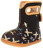 Bogs Baby Snow Boot, Planes Black/Multi, 6 Medium US Toddler