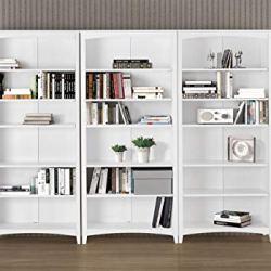 Camaflexi Shaker Style Bookcase, 72″, White