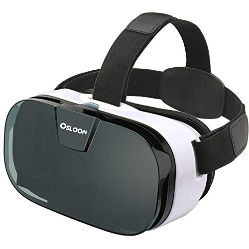 Virtual Reality Headset, Osloon 3D VR Glasses for Mobile Games and Movies, Compatible 4.7-6.2 inch iPhone/Android Phone, Including iPhone XS/X/8/8Plus/7/7Plus/6/6Plus/6s/5,Samsung,LG,Nexus etc