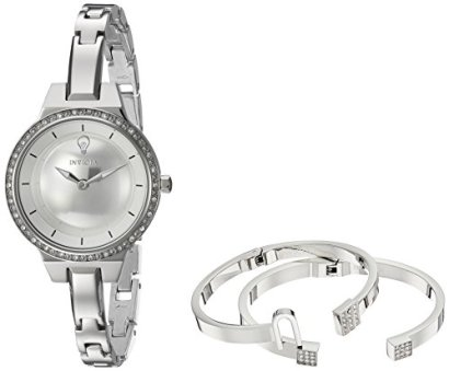 Invicta Women's Gabrielle Union Quartz Watch with Stainless-Steel Strap, Silver, 2 (Model: 23328)