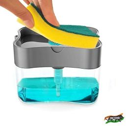 ZooY Smarty 2 in 1 Soap Dispenser for Dishwasher Liquid Holder , Liquid Dispenser Through Pump ( Multi-Color , 400 ML…