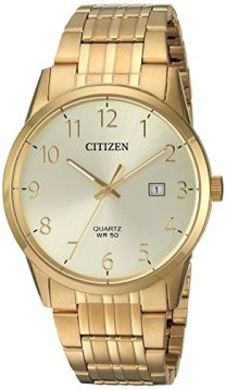 Citizen Men's Quartz Stainless Steel Casual Watch, Color:Gold-Toned (Model: BI5002-57Q)