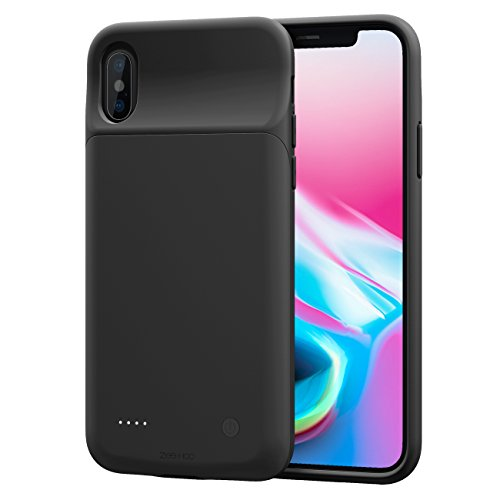 huge discount d51a3 9852d ZeeHoo 3200mAh Slim Charging Case for iPhone X/iPhone 10 (5.8-inch)  Protective Charger Case Extended Battery Pack, Compatiable with Lightning  ...