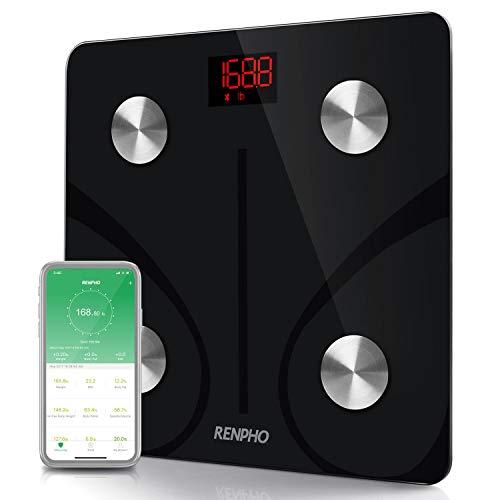41HUPos+XxL - RENPHO Bluetooth Body Fat Scale Smart BMI Scale Digital Bathroom Wireless Weight Scale, Body Composition Analyzer with Smartphone App 396 lbs - Black