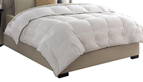 Pacific Coast Feather Company 67902 Medium Warmth Down Comforter, Cotton Cover, Hypoallergenic, Full/Queen