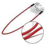 VKO Mirrorless Camera Neck Strap Compatible for Fujifilm X-T30 X-T3 X100F X-T20 X-T10 X-T2 X70 X-Pro2 X-E2S X-E3 X-E2 X-T1 X-Pro1 X30 XQ2 X100S X100T Cameras Climbing Rope Shoulder Strap Red