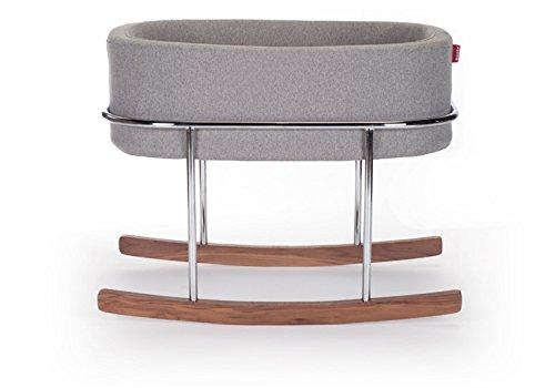 Monte Design Rockwell Bassinet Modern (Heather Grey Basket)