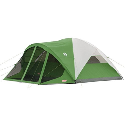 Coleman 8-Person Dome Tent with Screen Room | Evanston Camping Tent with...