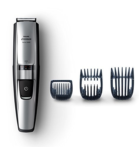 Philips Norelco Beard & Head trimmer Series 5100, 17 built-in length settings, hair clipping combs, BT5210/42
