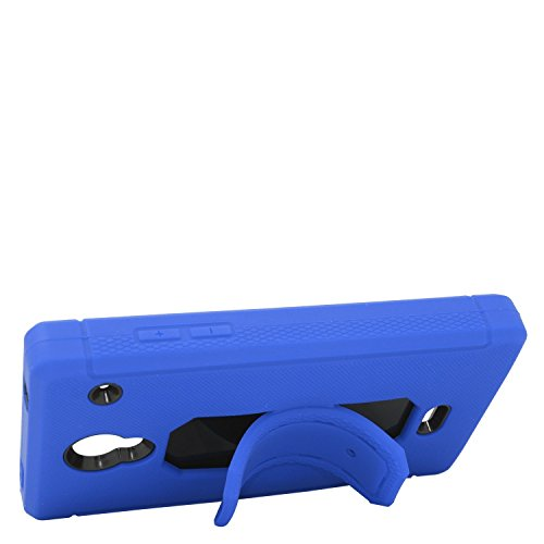 Eagle Cell Sharp Aquos Crystal Skin Case with Hybrid Stand - Retail Packaging - Blue/Black