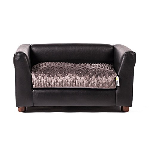 Keet Fluffly Deluxe Pet Bed Sofa Charcoal Small Pets