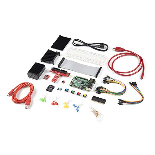 SparkFun-Raspberry-Pi-4-Hardware-Starter-Kit-4GB-Solid-Set-of-Parts-for-Working-with-Raspberry-Pi-4-in-a-More-Hardware-Centric-Manner-Includes-LEDs-Buttons-IO-40pin-Header-Hardware