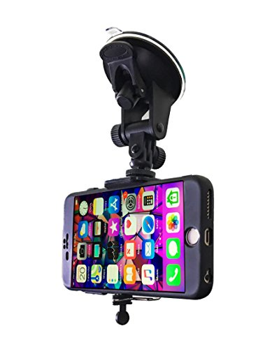 Car Phone Mount - Cell Phone Holder for Car Windshield Compatible with iPhone X XS Max XR 8 Plus 7 Plus 6S Plus 6 Plus SE Samsung Galaxy S9, S8, S8 Plus, Note 8, S7, S6, S5, Google Pixel XL by DaVoice