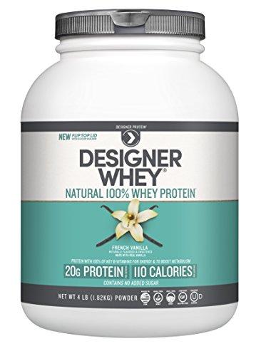 Designer Whey Premium Natural 100% Whey Protein, French Vanilla, 4 Pound