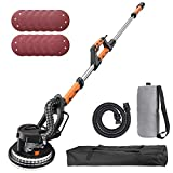 TACKLIFE Drywall Sander, 6.7A(800W), Automatic Vacuum System, 12 Sanding Discs, Variable Speed 500-1800 RPM Electric Drywall Sander with LED Light and a Carry Bag, Extendable Handle 1.6-1.9m PDS03A