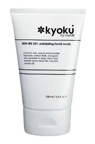 Kyoku For Men Exfoliating Facial Scrub   Kyoku For Men Face Scrub, A Gentle Acne Treatment For Men (3.4oz) Updated Formula