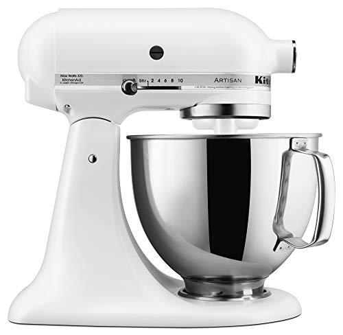 KitchenAid KSMm150PSFW KSM150PSFW Stand Mixer, 5 Qt, Matte White