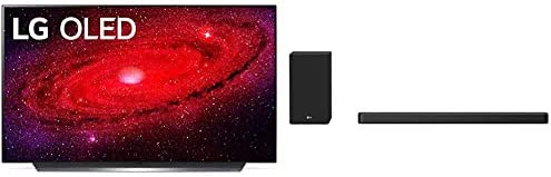 LG OLED48CXPUB Alexa Built-in 48″ 4K Ultra HD Smart OLED TV (2020) with LG SN8YG 3.1.2 Channel 440 Watt High Res Audio Sound Bar with Dolby Atmos and Google Assistant Built-in