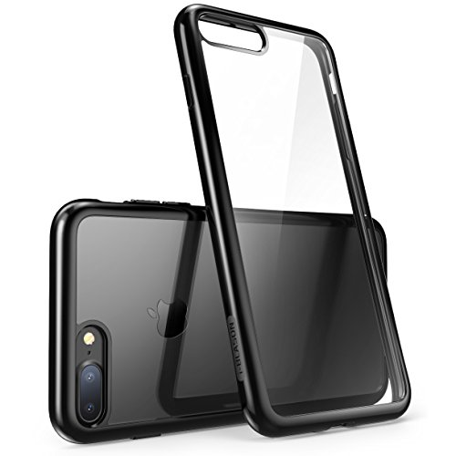i-Blason Halo Series Case Designed for iPhone 7 Plus/iPhone 8 Plus, [Scratch Resistant] Clear for iPhone 7 Plus/iPhone 8 Plus Cover (Black)