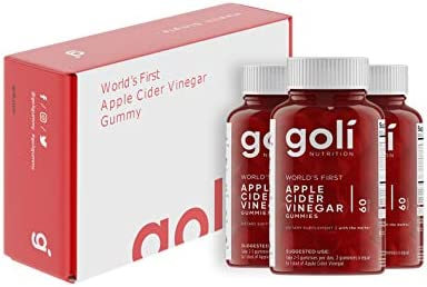 World's First Apple Cider Vinegar Gummy Vitamins by Goli Nutrition - Immunity, Detox & Weight (3 Pack, 180 Count, with The Mother, Gluten-Free, Organic, Vegan, Vitamin B9, B12, Beetroot, Pomegranate) 4