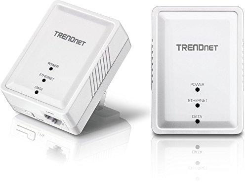 TRENDnet Powerline 500 AV Nano Adapter Kit, Includes 2 x TPL-406E Adapters, Cross Compatible with Powerline 600/500/200,Windows 10, 8.1, 8, 7, Vista, XP, TPL-406E2K
