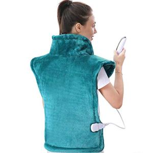 Large Heating Pad for Back and Shoulder, 24″x33″ Heat Wrap with Fast-Heating and 5 Heat Settings, Auto Shut Off Available – Lagoon