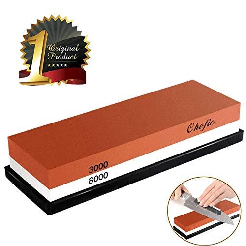 BearMoo Whetstone Premium 2-IN-1 Sharpening Stone 3000/8000 Grit...