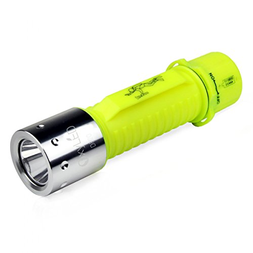 OxyLED DF20 Rechargeable Super Bright LED Submarine Waterproof Underwater Diving Torch Light, Yellow