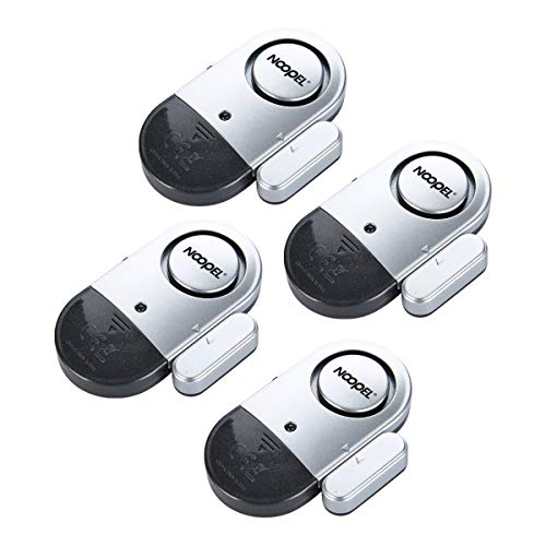 Window Door Alarms 4 Pack NOOPEL Pool Alarms for Doors Magnetic Entry Sensor Burglar Alert 120DB Loud for Home Security Kids Safety
