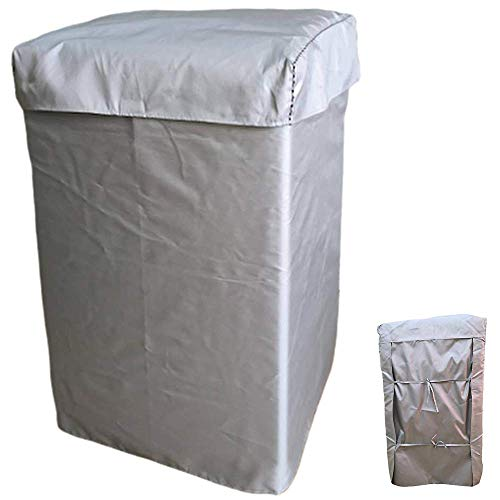 EBISSY Washing Machine Cover [ Durable Oxford Coated Silver/The Service Life Is 5 Years ] Automatic Sunscreen Waterproof Dustproof Protector (M:22'22'35'inches, Standard Fabric)