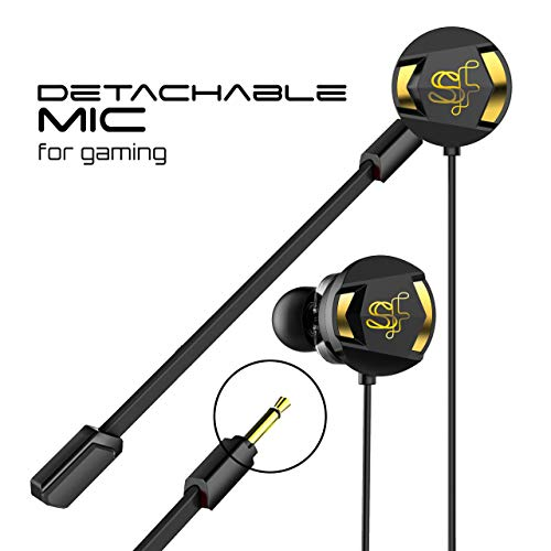 41IHMkpEtXL Skyfly Xbot GE100 - Dual Driver Gaming Earphones with Dual Dual mic (Detachable mic) & Free Carry Pouch || Perfect for Gamers