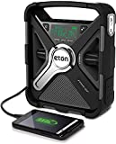 Eton FRX5-BT AM/FM/NOAA Emergency Weather Bluetooth Radio, Smartphone Charger, Display & Alarm Clock, Rugged & Reliable, 2000 Mah Rechargeable Battery, LED Flashlight, Solar Charging/Crank Charging
