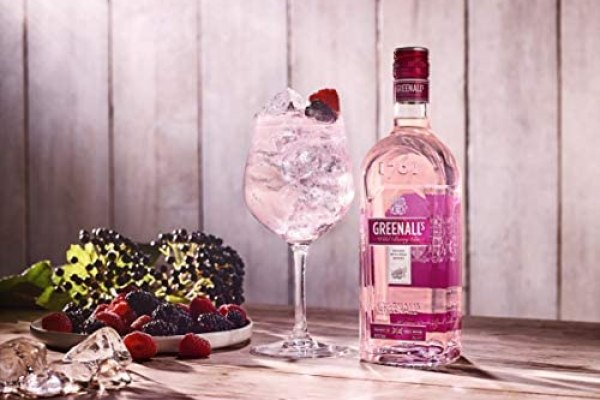 Greenall's Wild Berry Pink Gin, Real Fruit Flavoured Gin With Zero Sugar,  70cl 37.5% ABV: Amazon.co.uk: Grocery