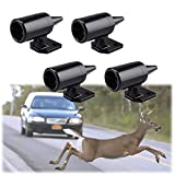 Ansblue Deer Alert for Vehicles,Animal Deer Warning Alarm,Avoids Deer Collisions Car Deer Warning,Ultrasonic Wildlife Warning for Auto Motorcycle Truck SUV and ATV - Black / 4pcs