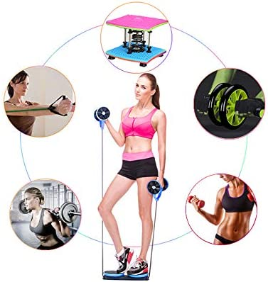 KAZOLEN Upgrade Ab Roller Wheel Multi-Functional Home Exercise Equipment Core Ab Workout Abdominal Wheel Machine Abs Exercise Fitness Trainer Ab Roller Home Gym Equipment… 7