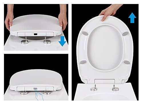 Super Bath Royale Premium Toilet Seat With Cover Slow Close Quick Release For Easy Cleaning Fits All Toilet Brands Evergreenethics Interior Chair Design Evergreenethicsorg