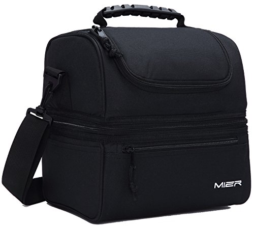 MIER Adult Lunch Box Insulated Lunch Bag Large Cooler Tote Bag for Men, Women, Double Deck...