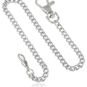 Charles-Hubert, Paris 3548-W Stainless Steel Pocket Watch Chain