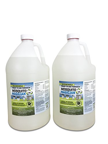 2 Gallons of Mosquito Magician Ready to USE Spray - Natural Mosquito and Insect Repellent for Outdoor Pest Control – Use in Any Sprayer