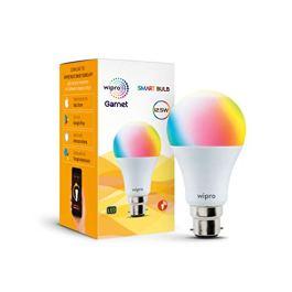 Wipro 12.5-Watt B22 Wi-Fi Smart LED Bulb with Music Sync (16 Million Colors + Warm White/Neutral White/White…