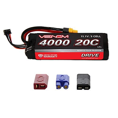 Venom 20C 3S 4000mAh 11.1V LiPo Battery with Universal Plug 2.0 (Traxxas / Deans / EC3)