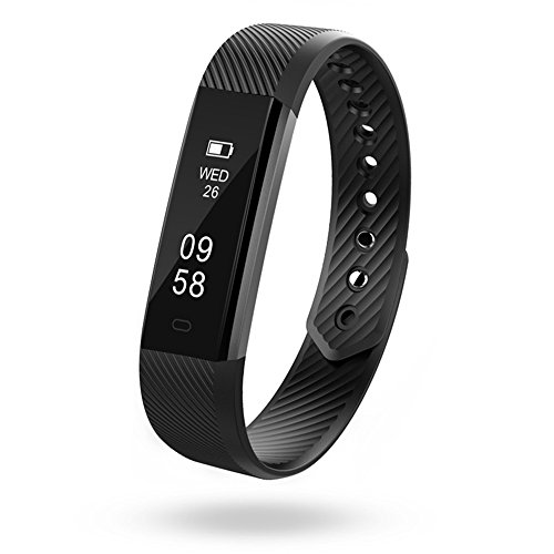 Fitness Tracker, Semaco Activity Wristband Smart Band with Pedometer Sleep Monitor Step Counter Bluetooth Bracelet for Kids Women Men
