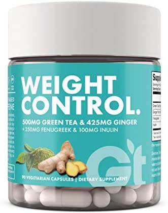 Genesis Today Weight Control Dietary Supplement, 500mg of Green Tea and 425mg of Ginger Root Per Serving, 90 Vegetarian Capsules 1