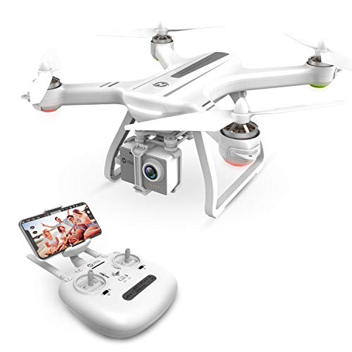 Holy Stone HS700 FPV Drone with 1080p HD Camera Live Video and GPS Return Home RC Quadcopter for Adults Beginners with Brushless Motor, Follow Me,5G WiFi Transmission,Compatible with GoPro,Color White