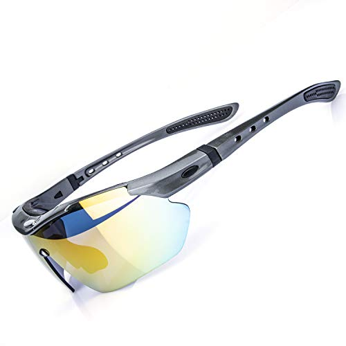 AOKNES Polarized Sports Sunglasses Cycling Fishing...