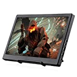 KALESMART 13.3 Inch HDR 1920x1080 2 HDMI IPS Display Monitor Gaming PC Monitor with Speakers and Hdmi,USB Power for Raspberry Pi PS4 Raspberry Pi WiiU Xbox 360 Portable with Double HDMI Ports
