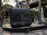 Trip Machine Company Leather Vintage Messenger Bag/Satchel - Black