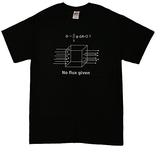 No Flux Given Funny Science Physics Men's T-Shirt (xx-large, Black)