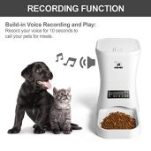 Automatic-Pet-Feeder-Auto-Cat-Dog-Timed-Programmable-Food-Dispenser-Feeder-for-Medium-Small-Pet-Puppy-Kitten-Portion-Control-Up-to-4-MealsDayVoice-RecordingBattery-and-Plug-in-Power-7LWhite